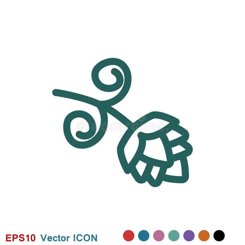 Logo d'ic?ne d'houblon, illustration, symbole de signe de vecteur pour la conception illustration de vecteur