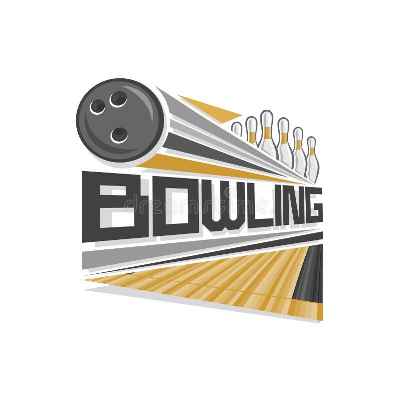 Logo d'illustration de vecteur pour le bowling illustration libre de droits
