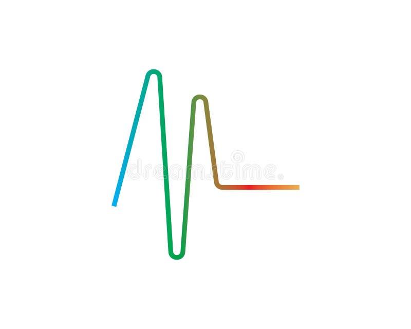 logo d'ilustration d'onde sonore illustration stock