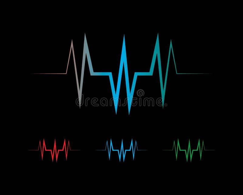logo d'ilustration d'onde sonore illustration de vecteur