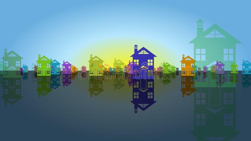 Logo d'immeubles illustration stock
