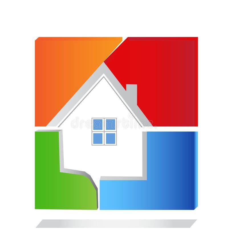 Logo d'immeubles illustration de vecteur