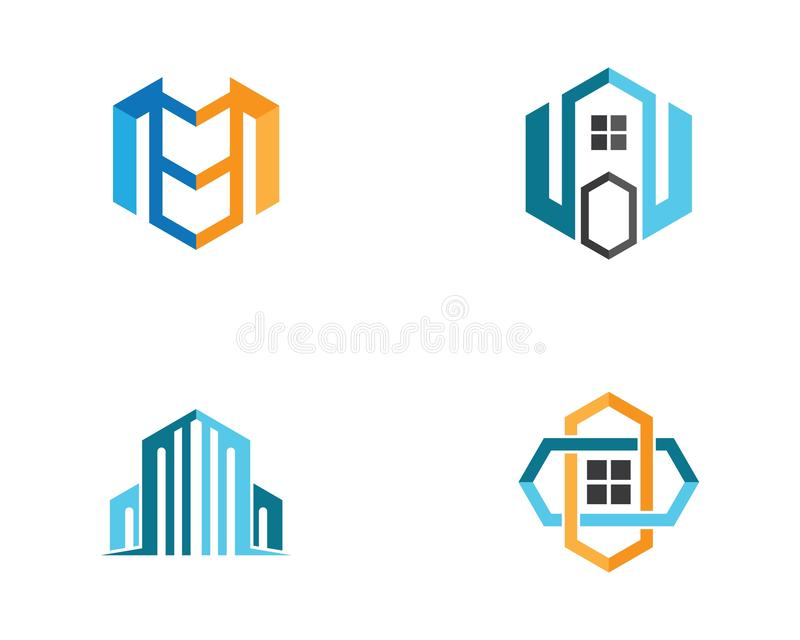 Logo d'immeubles illustration stock