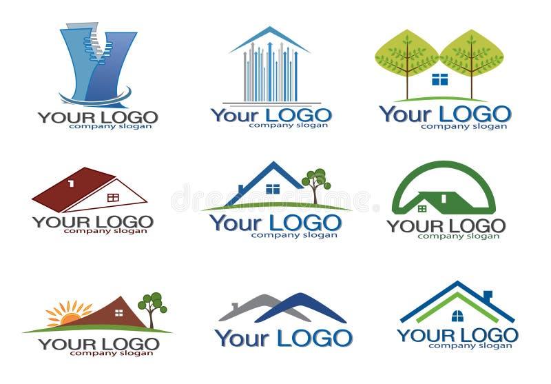 Logo d'immeubles réglé/eps8 illustration libre de droits