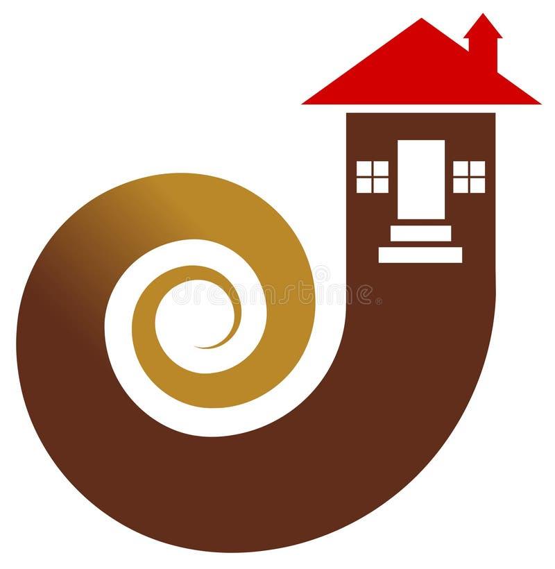 Logo d'immobiliers illustration de vecteur
