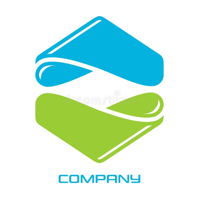 Logo d'immobiliers d'hexagone Illustration de vecteur illustration de vecteur