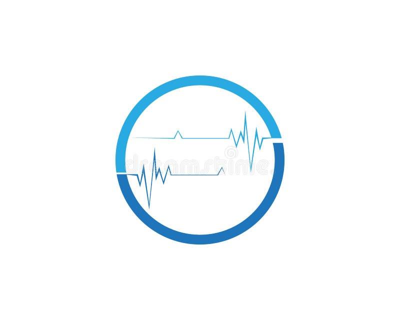 Logo d'impulsion et icônes de calibre de symboles illustration stock