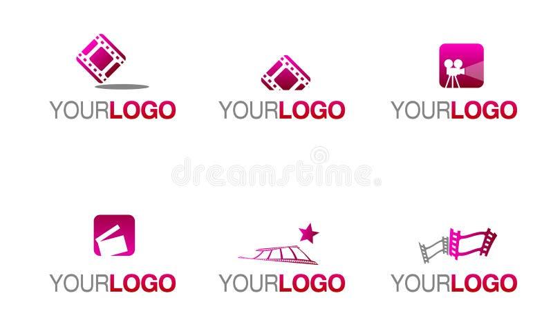 Logo d'industrie cinématographique de film et illustration libre de droits