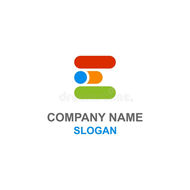Logo d'initiale de lettre d'E illustration libre de droits