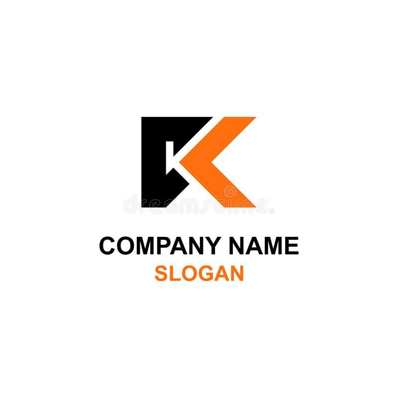 Logo d'initiale de lettre de kc illustration stock