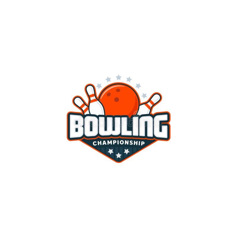 Logo d'insigne de bowling illustration libre de droits
