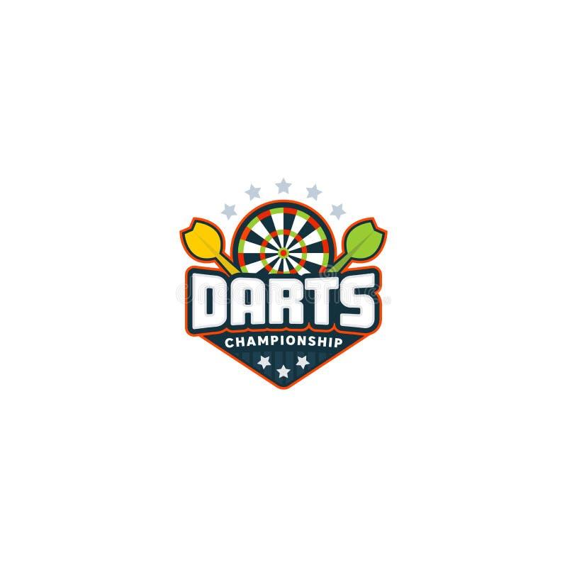 Logo d'insigne de dards illustration de vecteur
