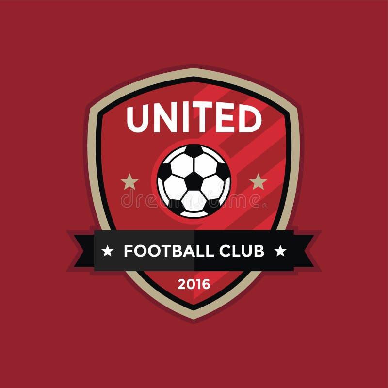 Logo d'insigne du football du football illustration libre de droits