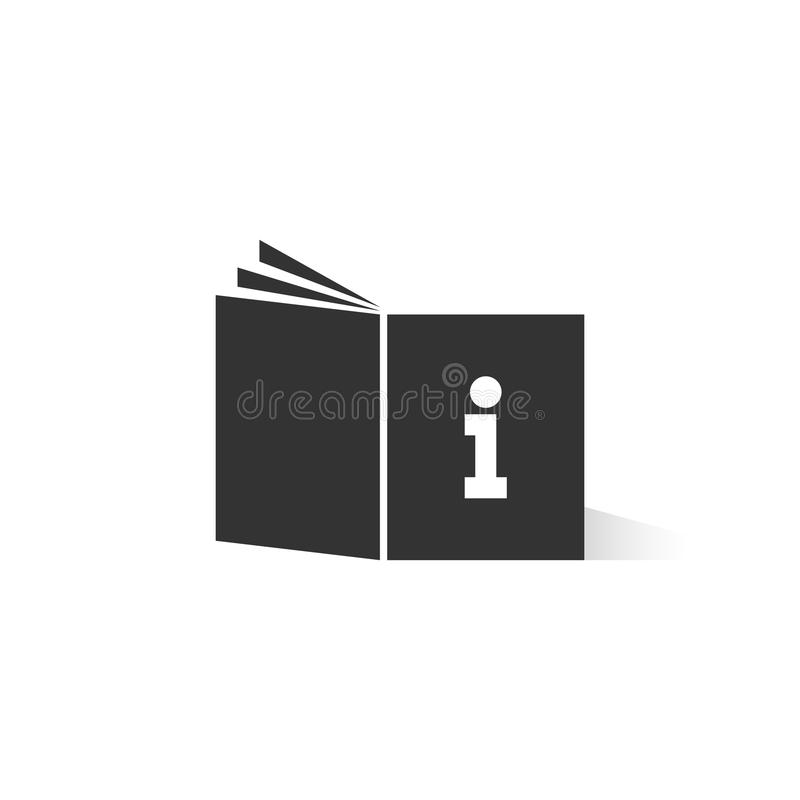 Logo d'instruction noir de livre avec l'ombre illustration stock