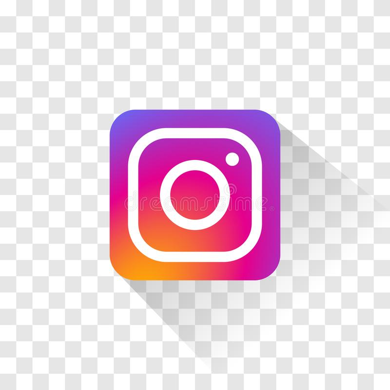 Logo d'isolement d'Instagram Illustration de vecteur Ic?ne d'Instagram illustration de vecteur