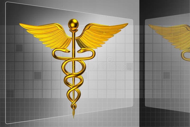 logo 3d médical illustration de vecteur