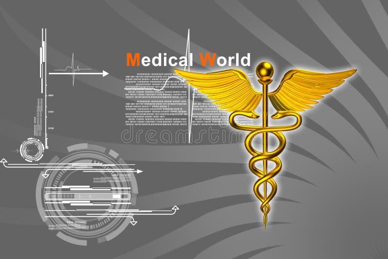 logo 3d médical illustration stock