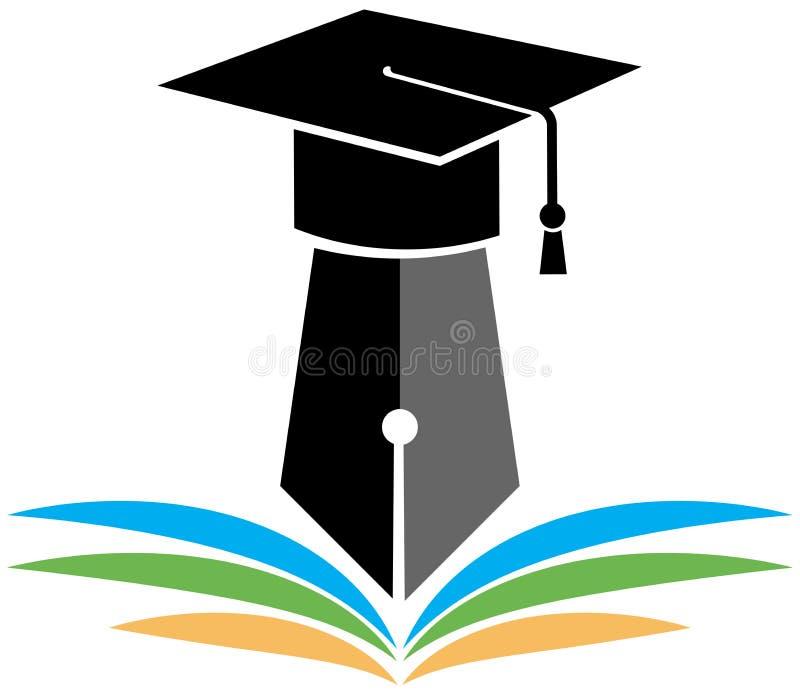Logo d'obtention du diplôme illustration de vecteur