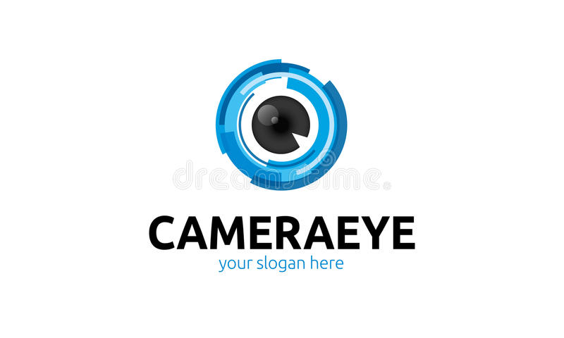 Logo d'oeil d'appareil-photo illustration stock