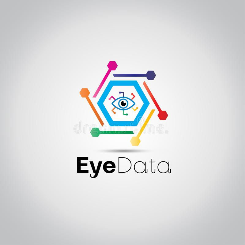 Logo d'oeil de données numériques illustration libre de droits