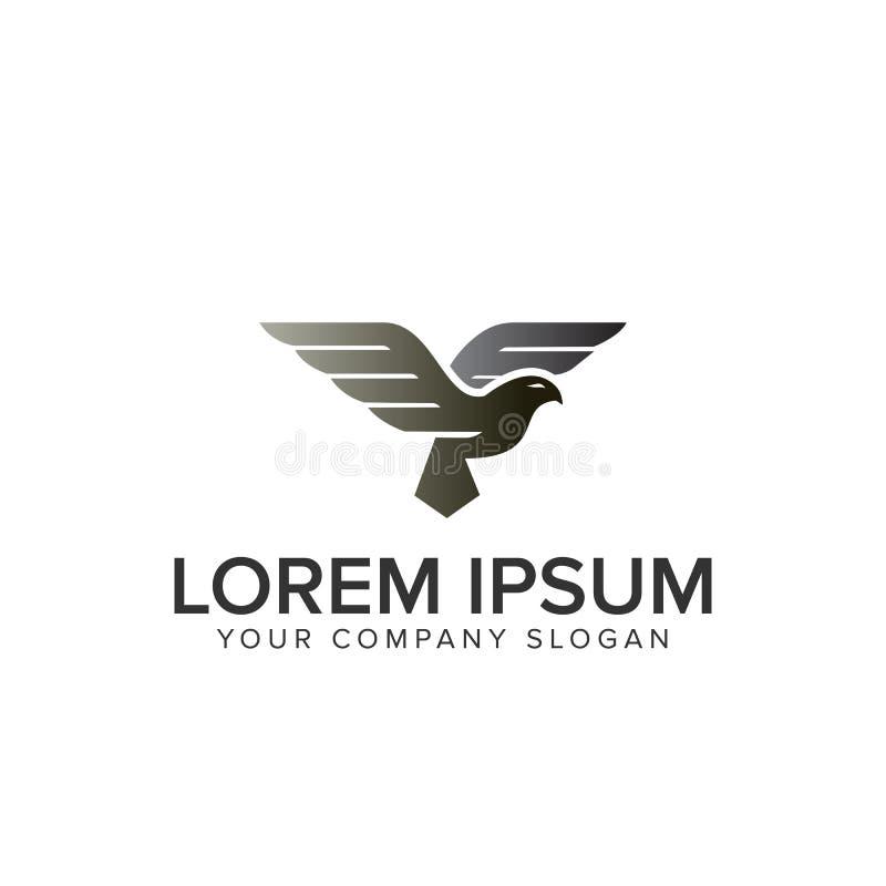 Logo d'oiseau de vol illustration de vecteur