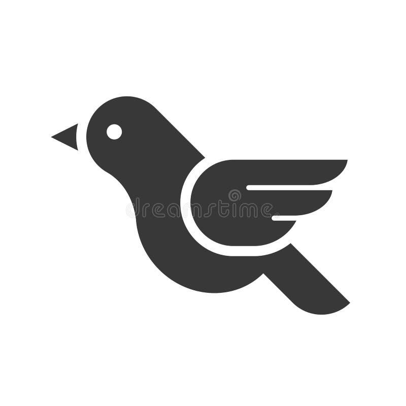 Logo d'oiseau de vol, ensemble rempli d'icône de Joyeux Noël illustration stock