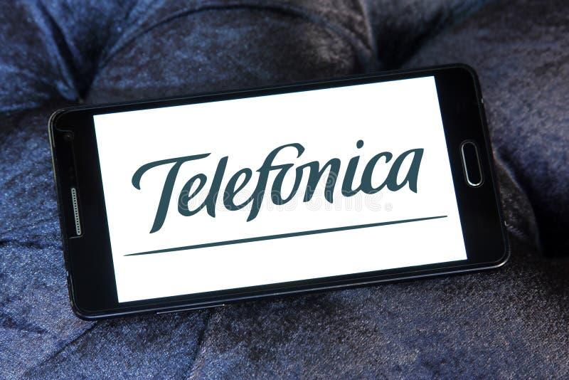 Logo d'opérateur mobile de Telefonica photographie stock