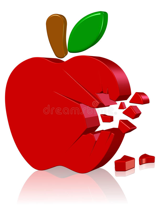 Logo d'ordinateur Apple illustration libre de droits