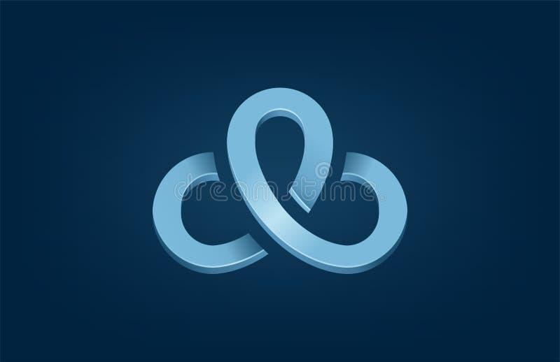 Logo d'ordinateur de mise en réseau de technologie de nuage illustration de vecteur