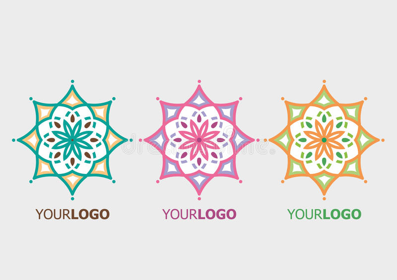 Logo d'ornamental de vecteur photo stock