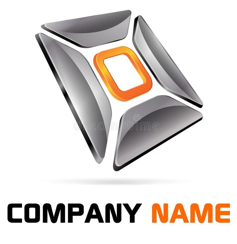 Logo 3d som brännmärker abstrakt begrepp royaltyfri illustrationer