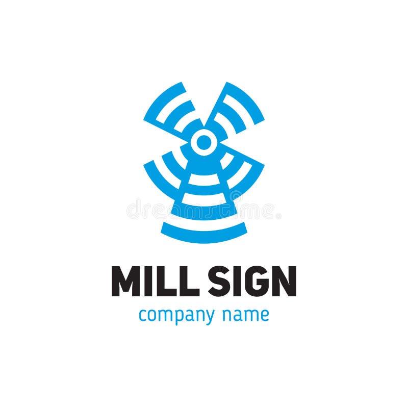 Logo d'un moulin dans un style moderne illustration stock