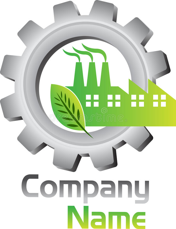 Logo d'usine d'Eco illustration stock