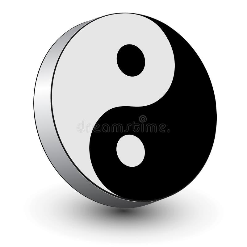 Logo 3d Yin Yang Symbol Stock Vector Illustration Of Religion