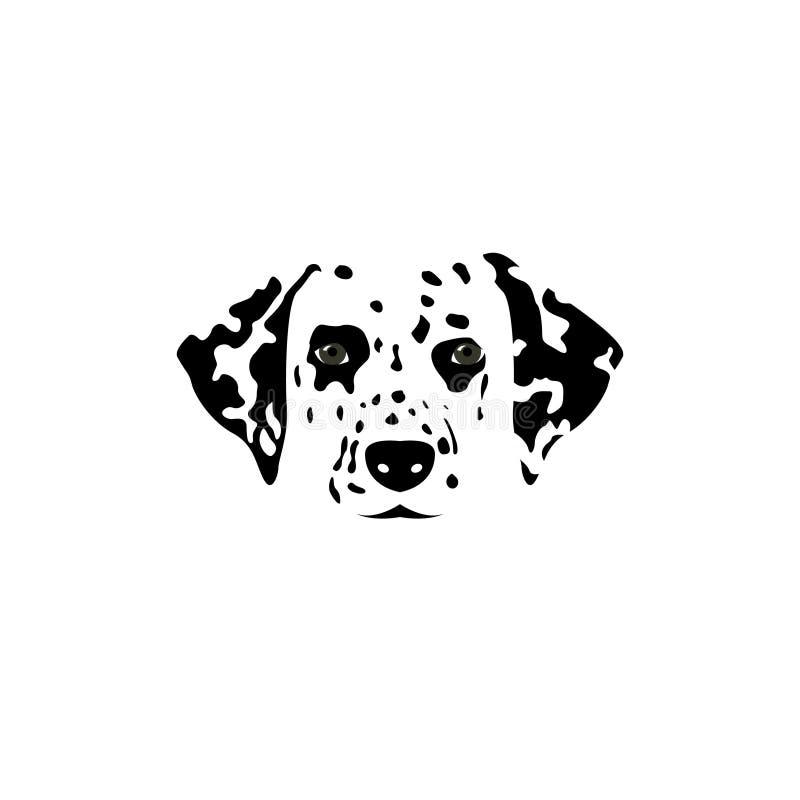 Logo dalmatien de chien illustration de vecteur