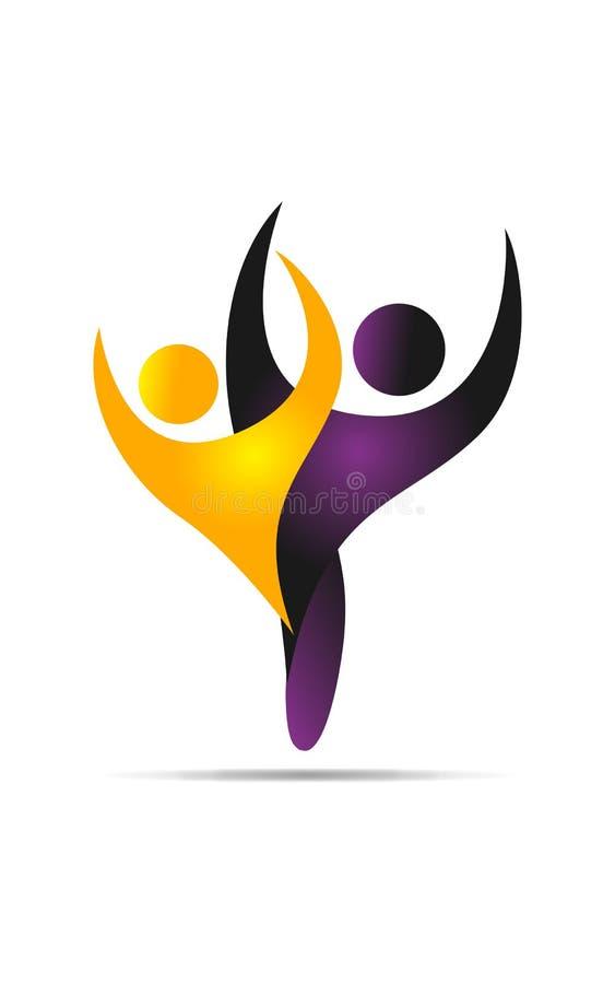 Logo Dance vector illustration