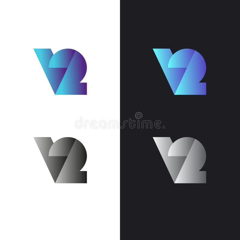 Logo dans le style moderne, ensemble de signes abstraits illustration stock