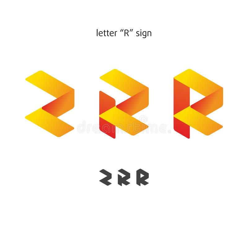 Logo dans le style moderne, ensemble de signes abstraits, lettre illustration libre de droits