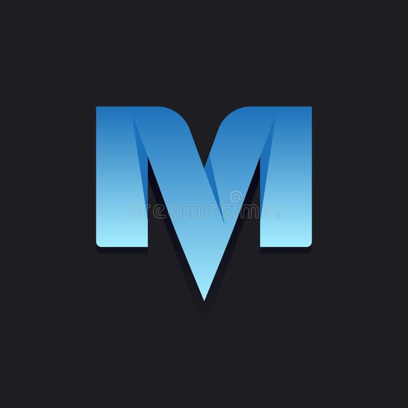 Logo dans le style moderne, ensemble de signes abstraits, lettre illustration stock