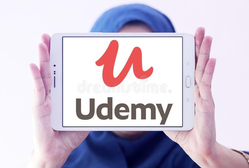 Logo de étude en ligne de plate-forme d'Udemy photo libre de droits