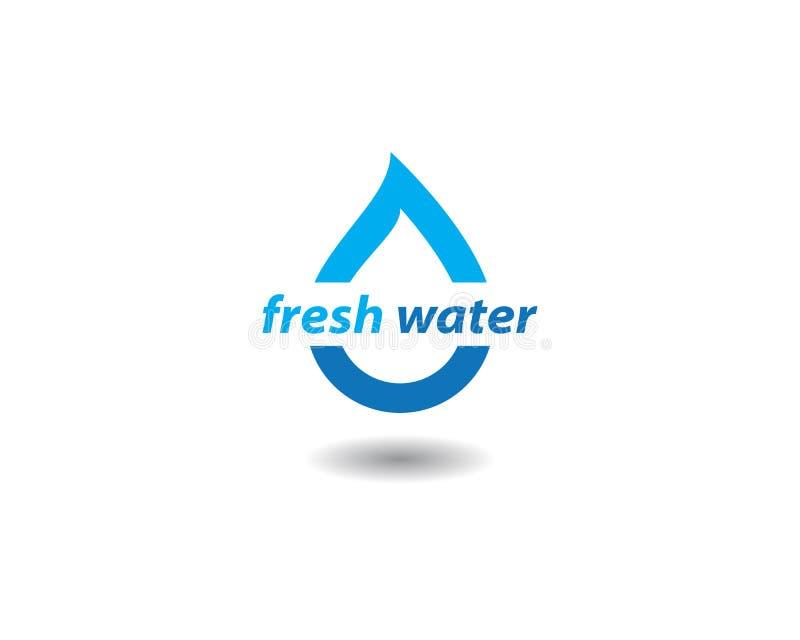 Logo de baisse de l'eau illustration libre de droits