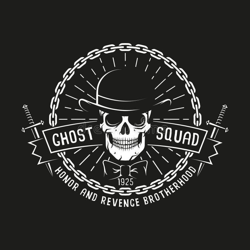 Logo de bandit avec le crâne illustration de vecteur