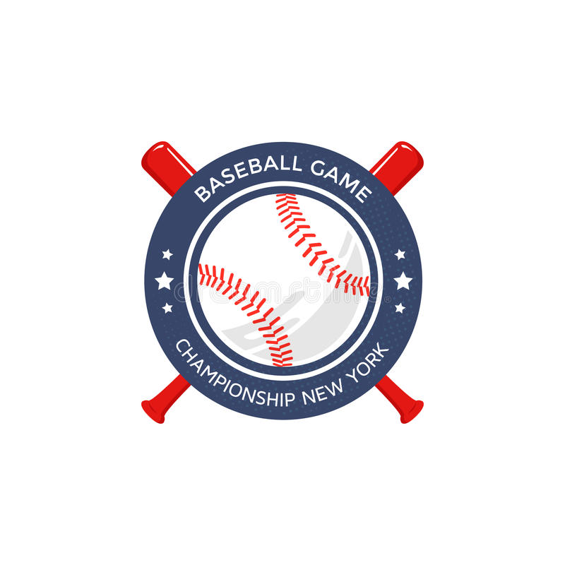 Logo de base-ball, emblème illustration stock
