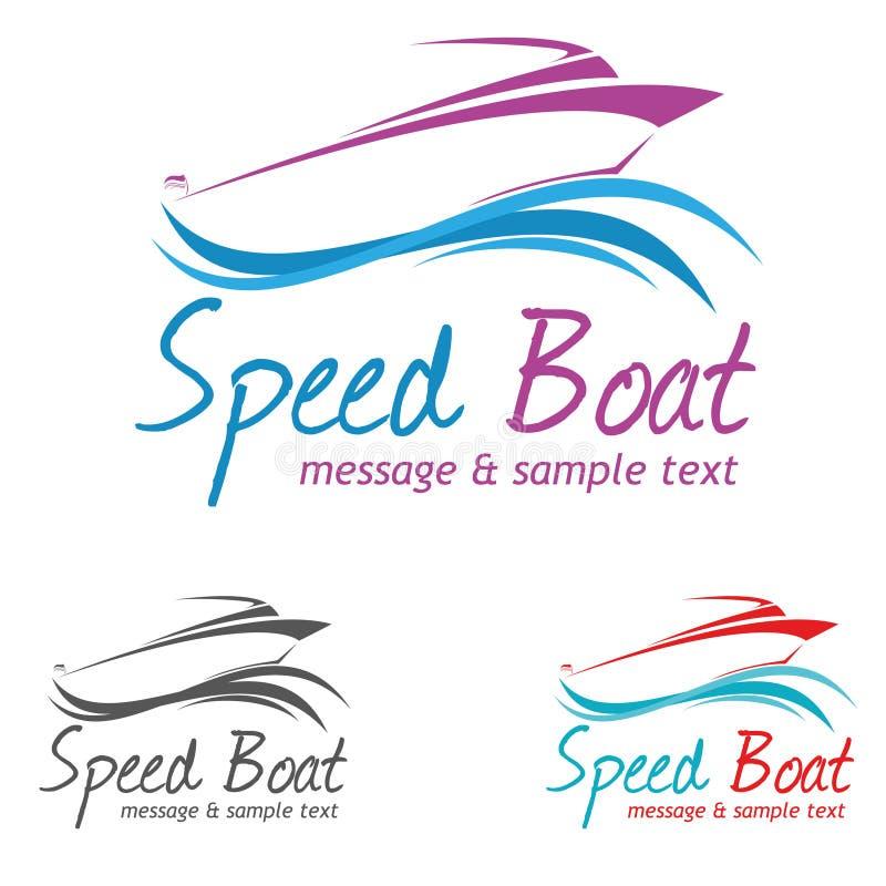 Logo de bateau illustration stock