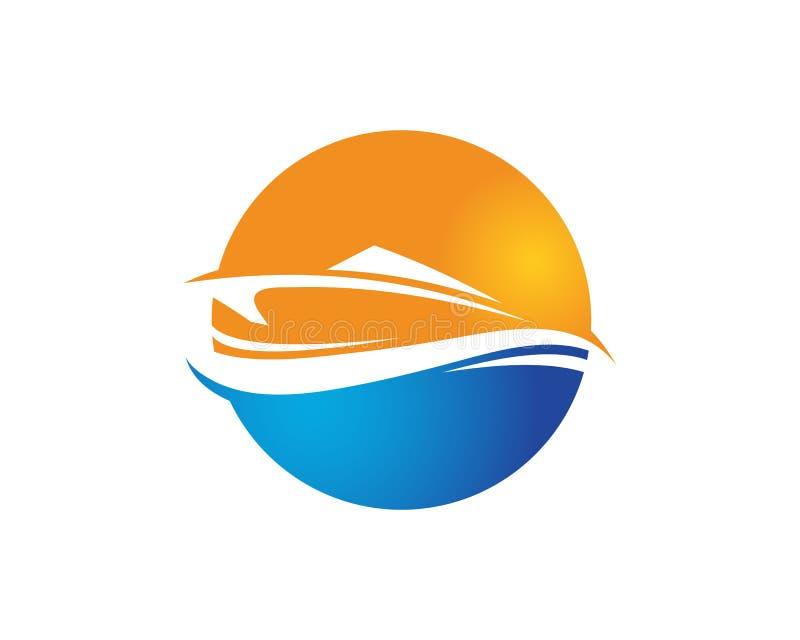 Logo de bateau - identité de marque pour des affaires de canotage illustration de vecteur