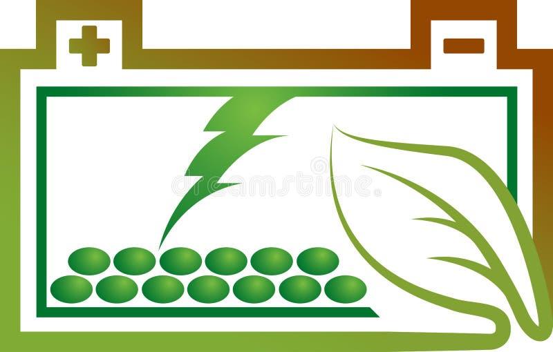 Logo de batterie d'Eco illustration stock
