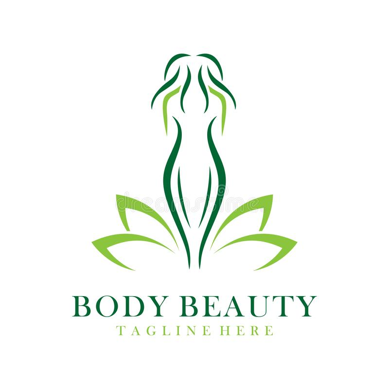 Logo de beauté de corps illustration stock