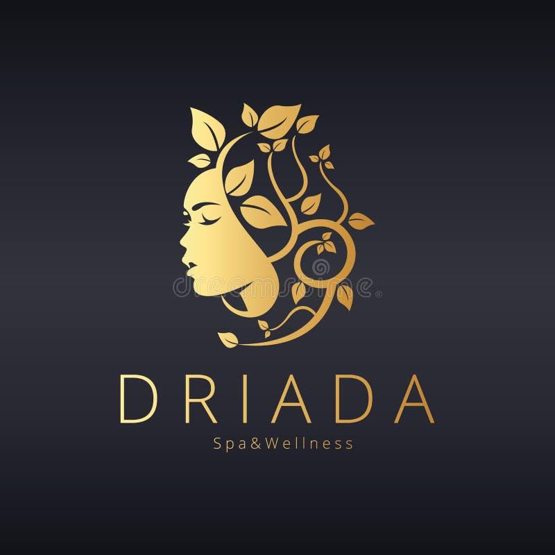 Logo de beauté Logotype de Driada Conception de logo de vecteur pour le salon de beauté, salon de coiffure, cosmétique et photographie stock
