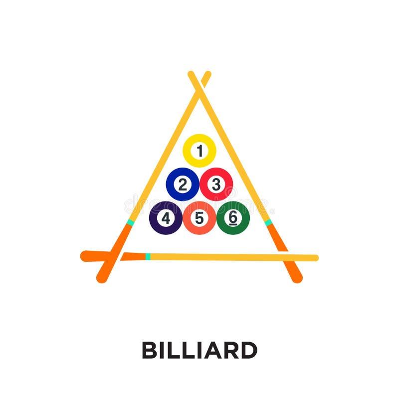 logo de billard d'isolement sur le fond blanc pour votre Web, mobile illustration libre de droits