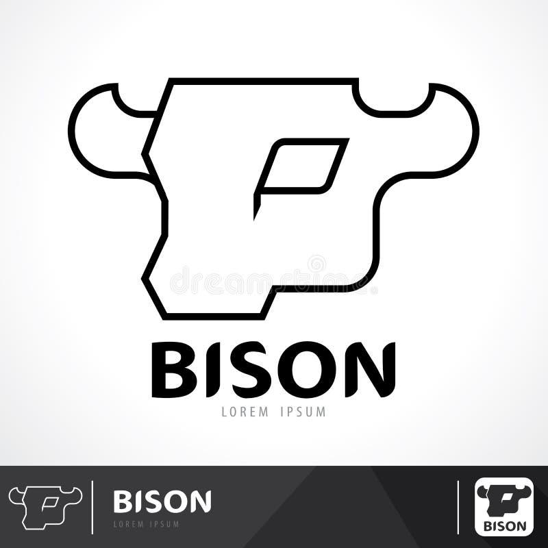 Logo de bison illustration libre de droits